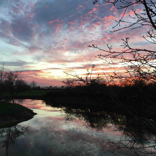 coucher de soleil automne mare MP